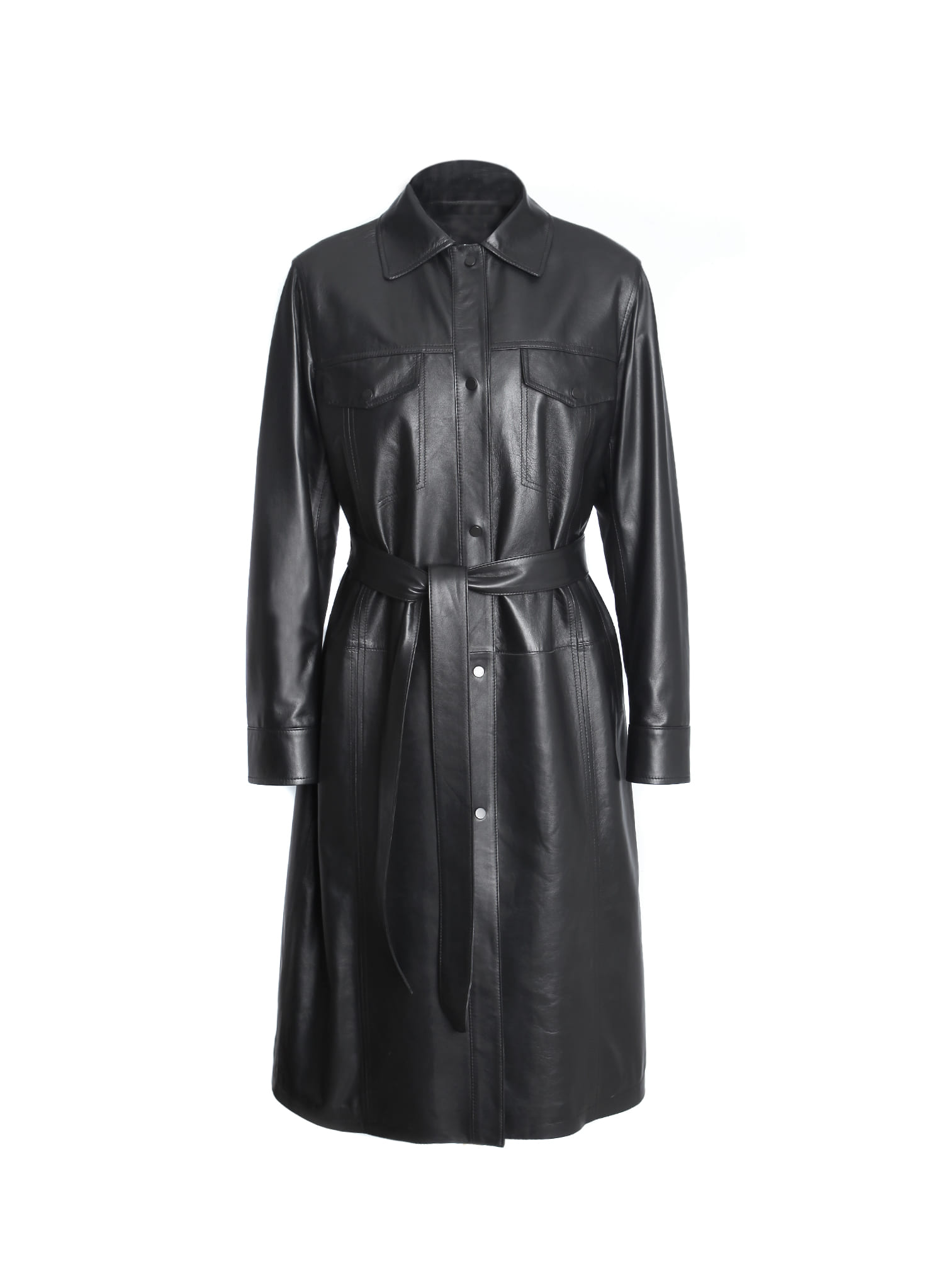 DECADENZA LEATHER COAT / BLACK