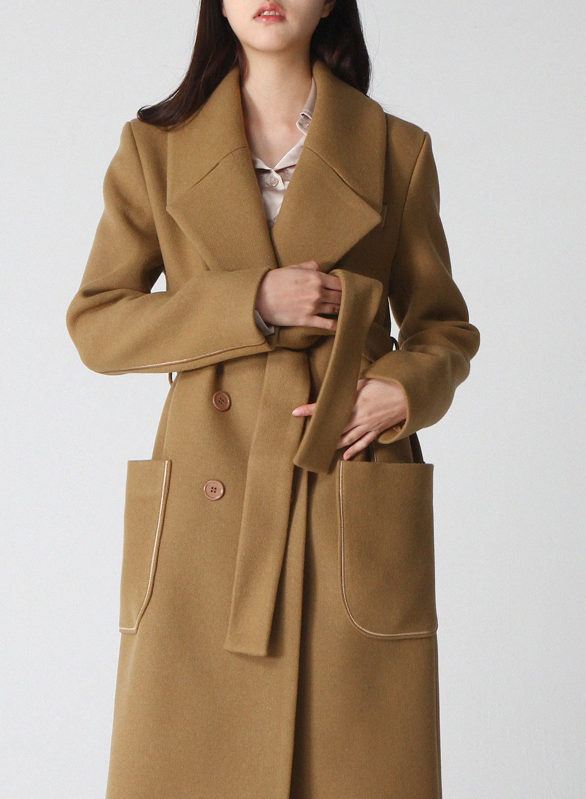 SILK STITCH DOUBLE LONG COAT