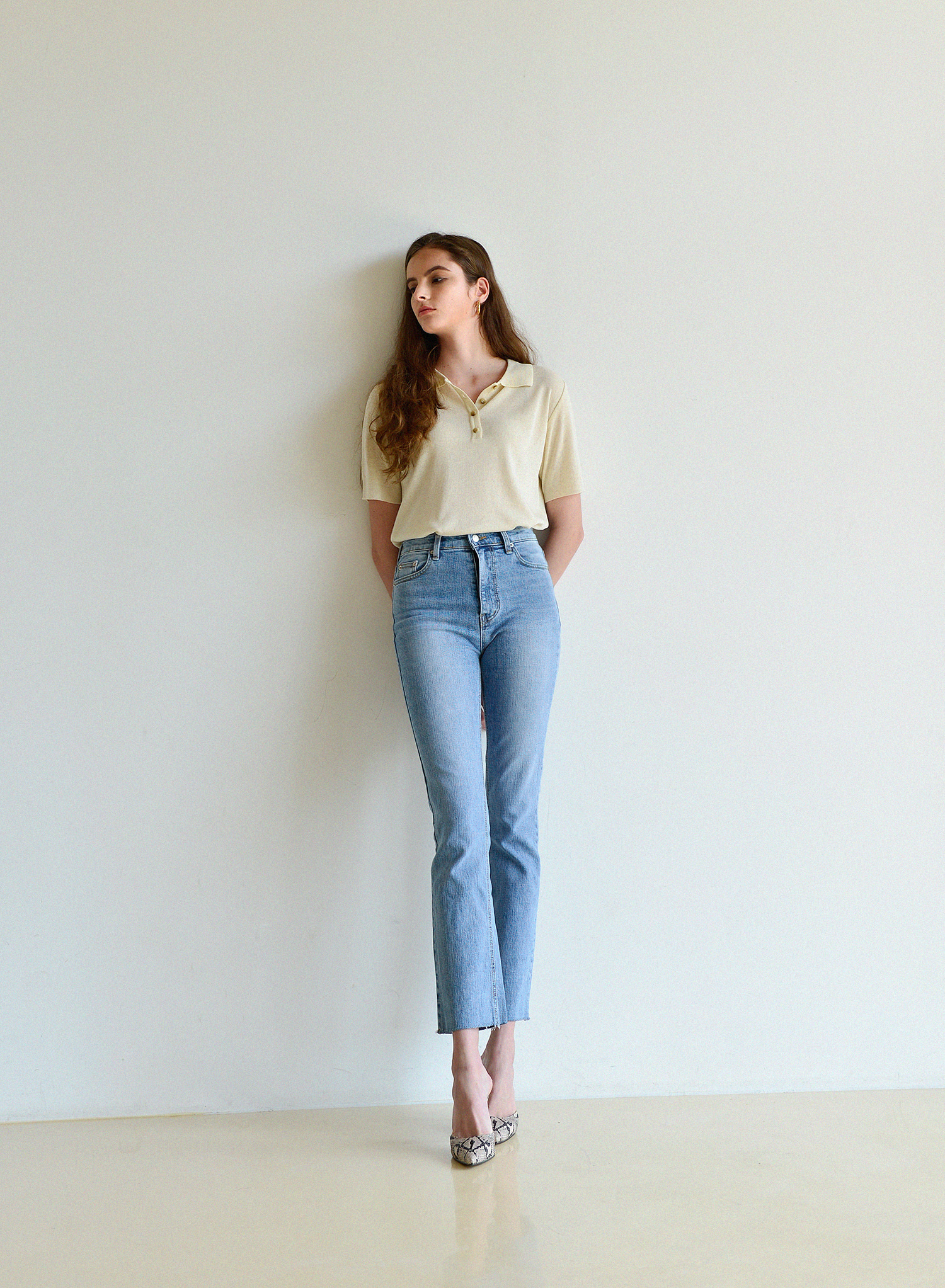 [데님 기획전] STANDARD CROP JEANS / LIGHT BLUE