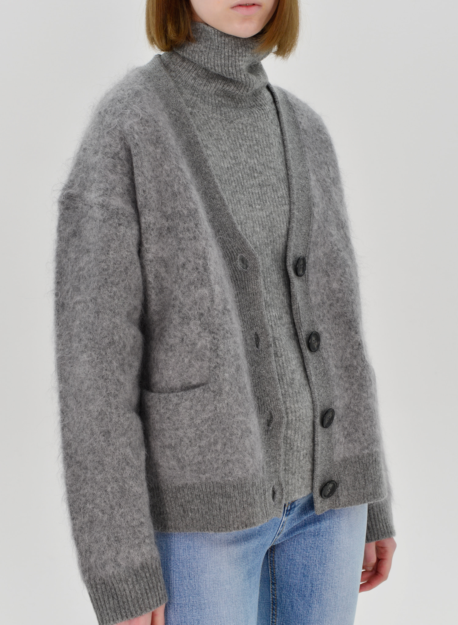 [SEASON OFF Event 50%↓] MOHAIR BUTTON CARDIGAN