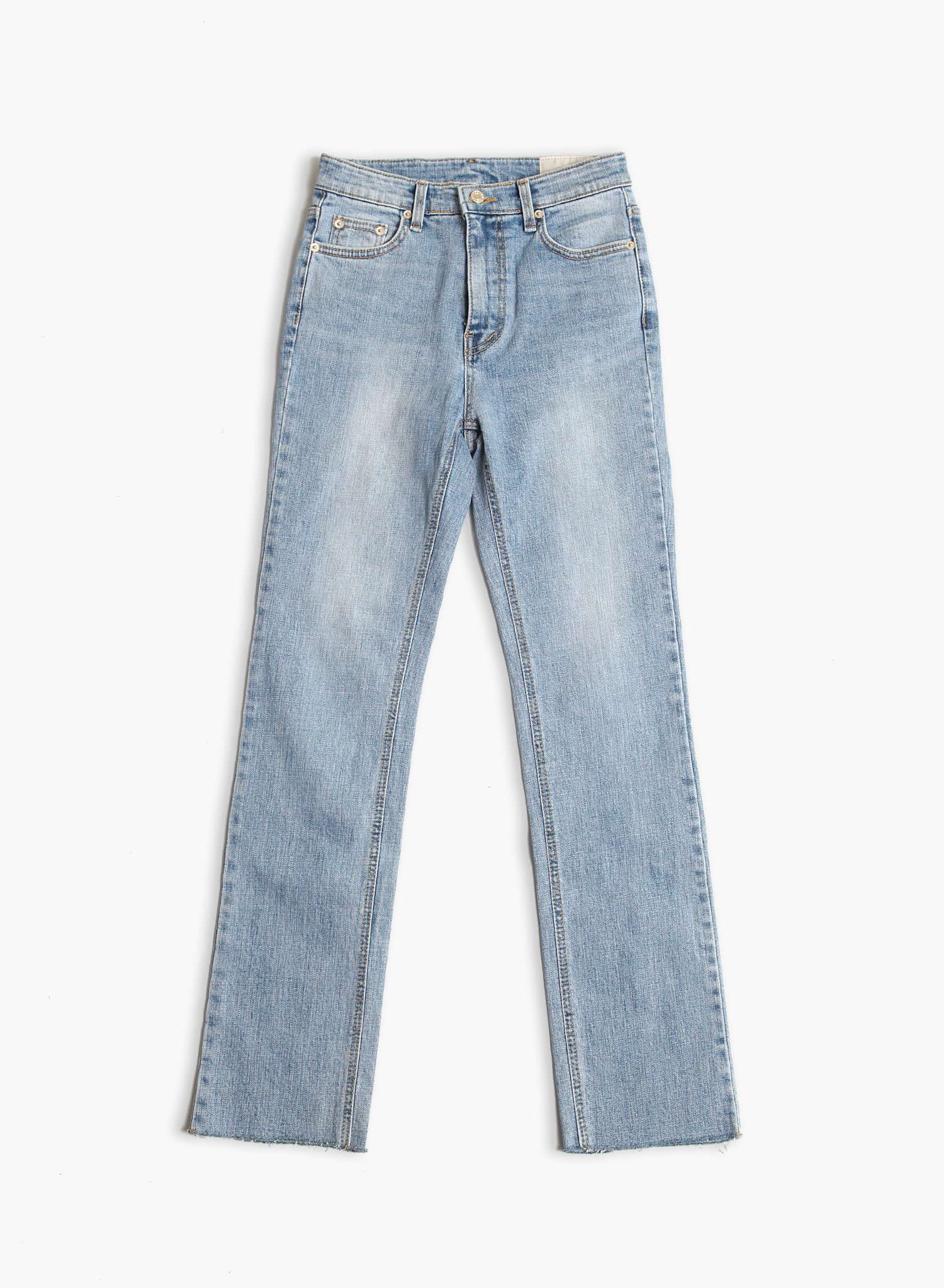 [SEASON OFF Event 40%↓] SLIM STRAIGHT CROP JEANS / LIGHT BLUE