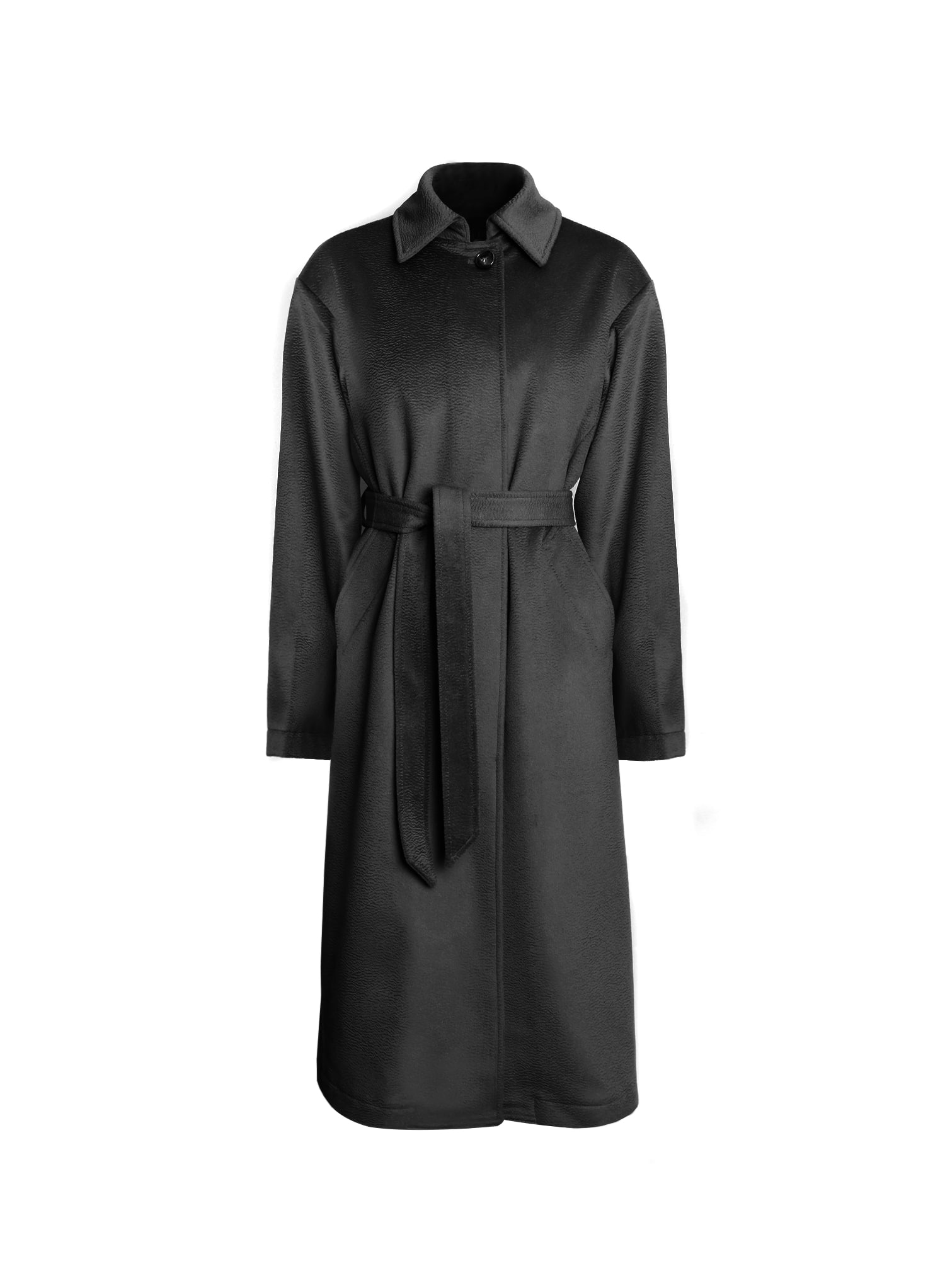 CLASSIC CASHMERE SINGLE COAT / BLACK