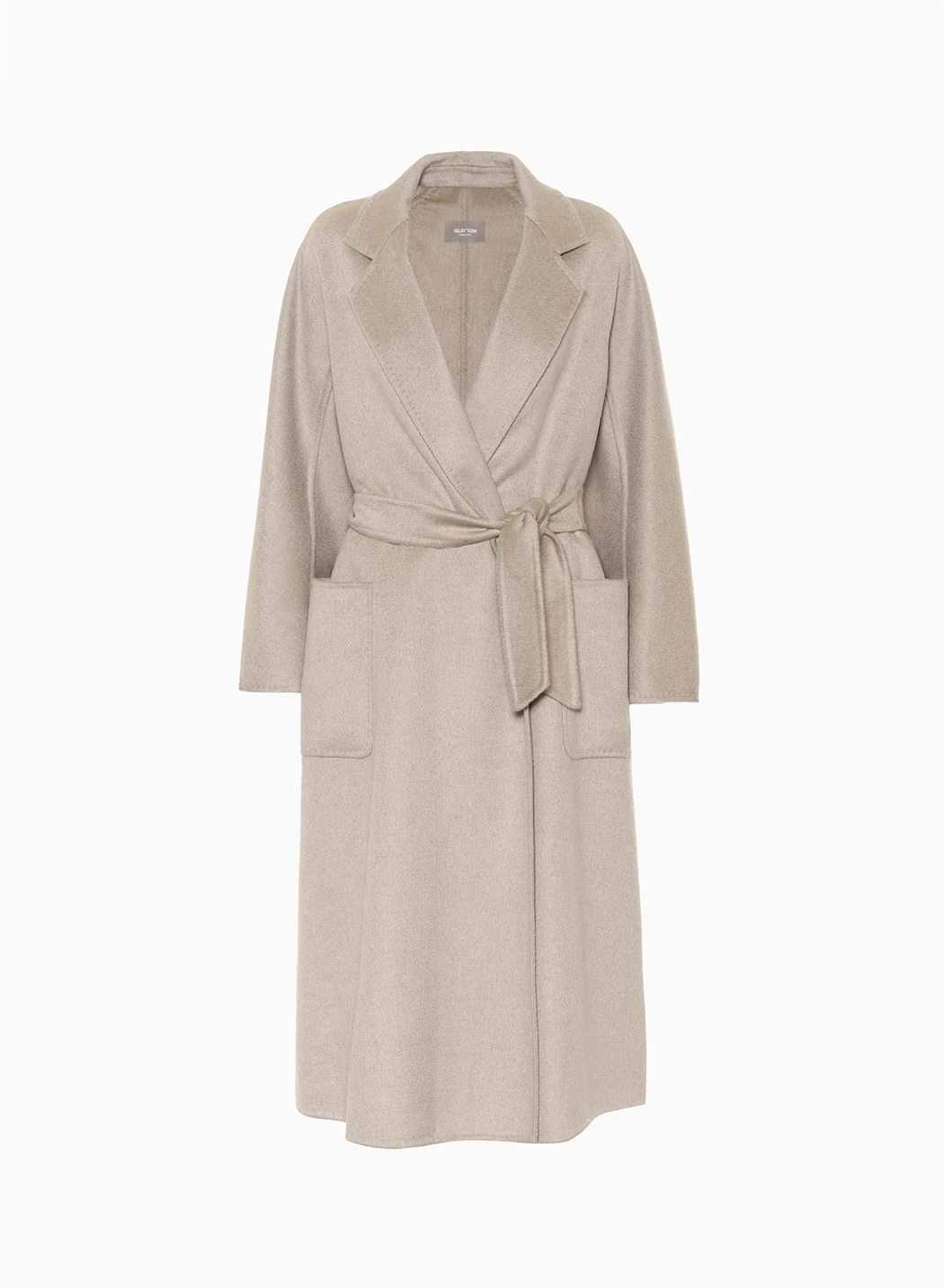 HAND MADE CASHMERE ROBE COAT_SAND BEIGE