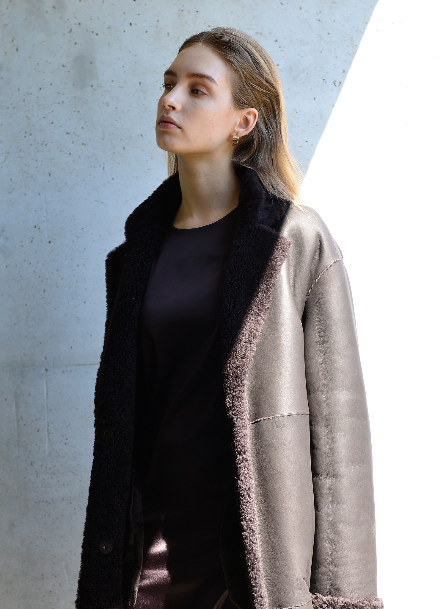 REVERSIBLE SHEEP SKIN COAT_B