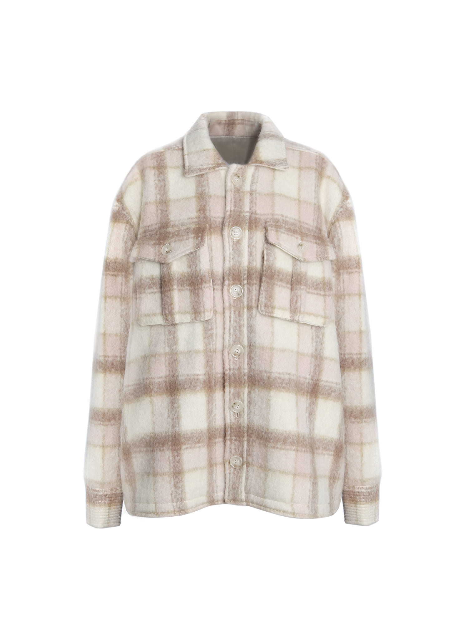 MOHAIR CHECK LOOSE JACKET