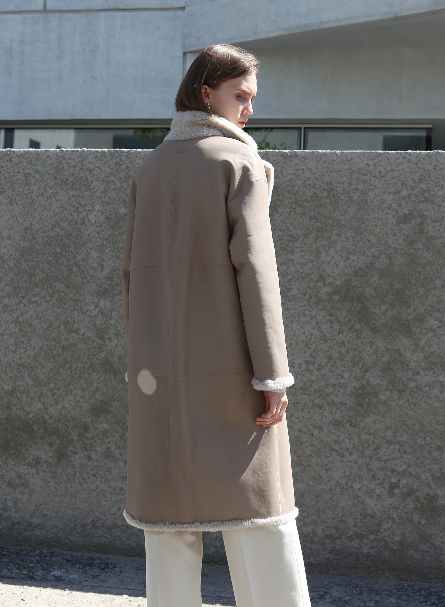 REVERSIBLE SHEEP SKIN COAT_C