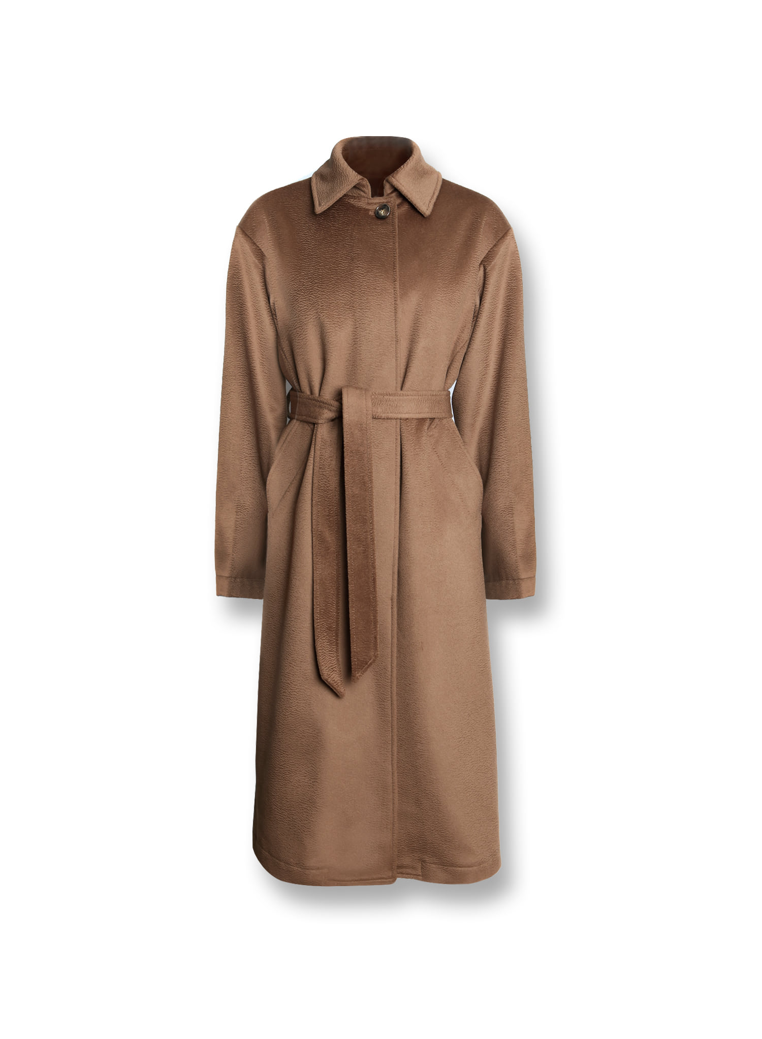CLASSIC CASHMERE SINGLE COAT / TABACO